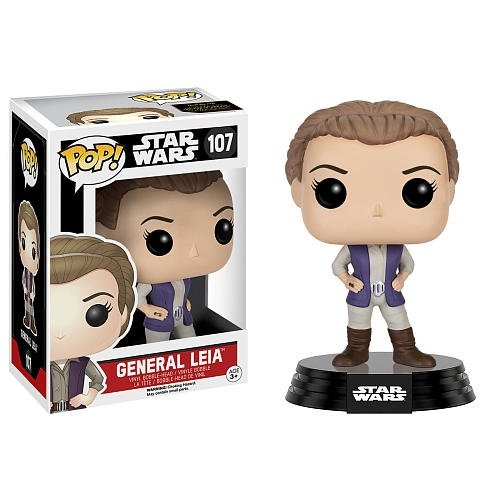 General Leia figure, produced by Funko. Front view.