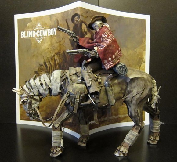 Ghost-Horse and Blind Cowboy Super Set figure by Ashley Wood, produced by Threea. Side view.