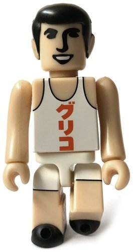 Glico Man figure, produced by Medicom Toy. Front view.