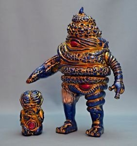 Glitter Bomb Unchiman & Morning Man Set figure by Paul Kaiju, produced by Self Produced. Front view.