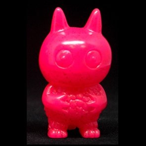 Glitter Pink Ice Bat figure by David Horvath, produced by Toy Art Gallery. Front view.