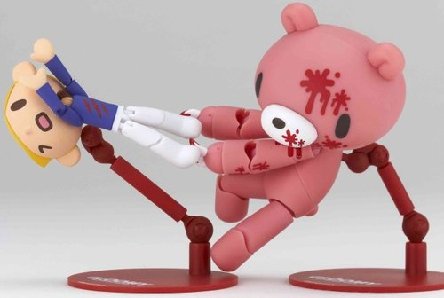 Gloomy - Bloody Edition figure by Mori Chack, produced by Kaiyodo. Front view.