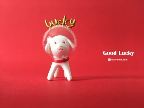 Good Lucky figure by Han Ning, produced by 6Hl6. Front view.