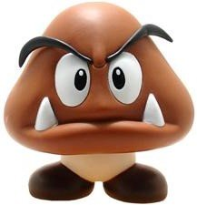 Goomba figure by Nintendo, produced by Nintendo. Front view.