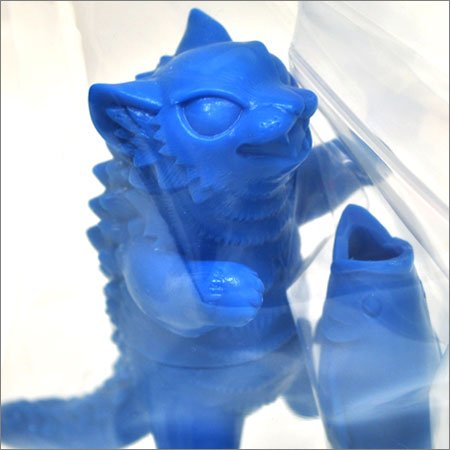 Graffiti Negora - Rakugaki Blue figure by Konatsu X Max Toy Co., produced by Max Toy Co.. Detail view.