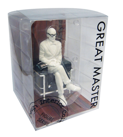 Great Master Le Corbusier In Lc2 Chair Figurine Figure