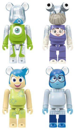 HappyKuji Disney / Pixar BE@RBRICK - Be@rbrick Award 20pcs figure, produced by Medicom Toy. Side view.