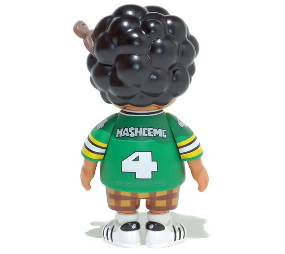 Hasheem Soft Vinyl Figure (2017 version) figure by Santastic, produced by How2Work. Back view.