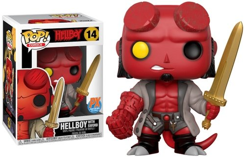 Hellboy (With Sword) - (Previews Exclusive) figure by Mike Mignola, produced by Funko. Packaging.
