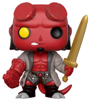 Hellboy (With Sword) - (Previews Exclusive) figure by Mike Mignola, produced by Funko. Front view.