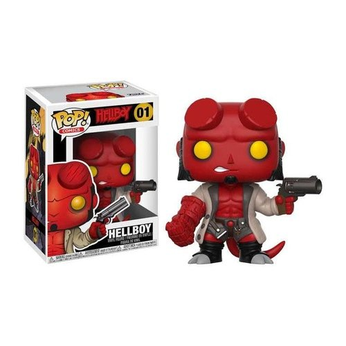 Hellboy (Regular Edition) figure by Mike Mignola, produced by Funko. Front view.