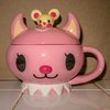 Hellcatz Peachy lidded tea cup
