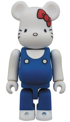 HELLO KITTY 70s BE@RBRICK 100% figure, produced by Medicom Toy. Front view.