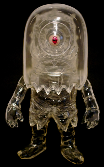 Helper - Clear figure by T9G X Tim Biskup, produced by Intheyellow. Front view.