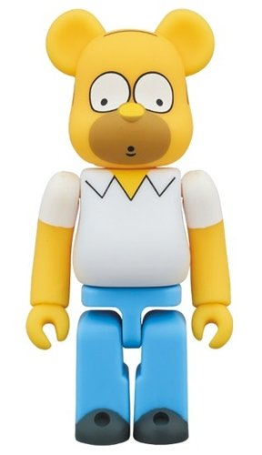 Homer Simpson Be@rbrick 100% figure, produced by Medicom Toy. Front view.