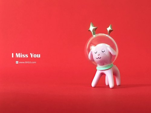 I Miss You figure by Han Ning, produced by 6Hl6. Front view.