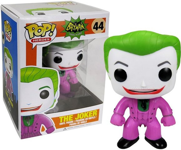 POP! Heroes - The Joker 1966 figure by Dc Comics, produced by Funko. Packaging.