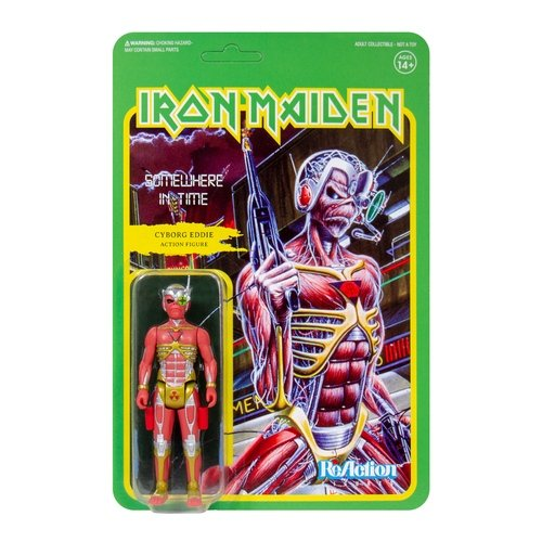 Iron Maiden - Somewhere In Time (Cyborg Eddie) figure by Super7, produced by Funko. Front view.