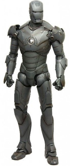 Iron Man Mark III 'TK' Edition figure by Marvel, produced by Hot Toys. Front view.