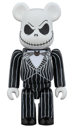 Jack Skellington BE@RBRICK 100% figure, produced by Medicom Toy. Front view.