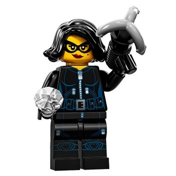 Jewel Thief figure by Lego, produced by Lego. Front view.