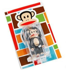 Julius Be@rbrick 100% figure by Paul Frank, produced by Medicom Toy. Packaging.