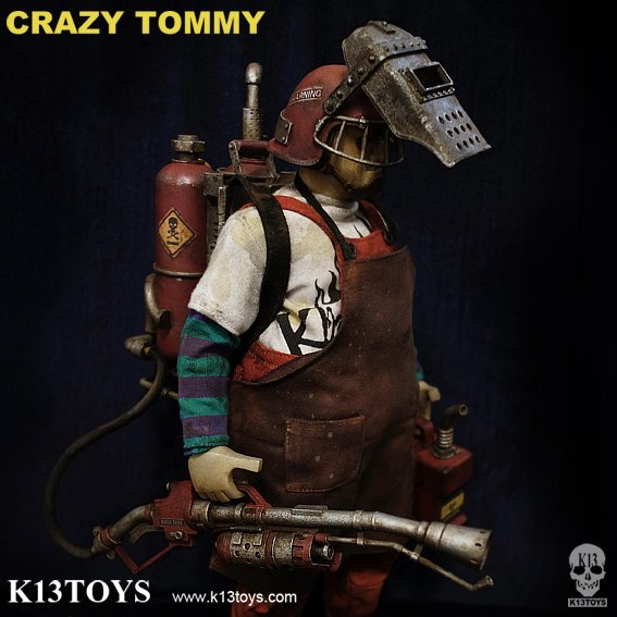 K13 Toys - Crazy Tommy figure, produced by K13 Toys. Detail view.