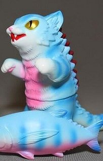 Kaiju Negora Blue Stripe figure by Mark Nagata, produced by Max Toy Co.. Front view.