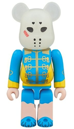 Kamen Joshi - Blue BE@RBRICK figure, produced by Medicom Toy. Front view.