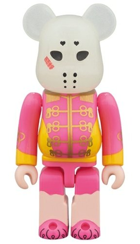 Kamen Joshi - Pink BE@RBRICK figure, produced by Medicom Toy. Front view.