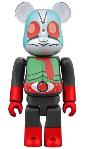 kamen rider new 2 BE@RBRICK 100% figure, produced by Medicom Toy. Front view.