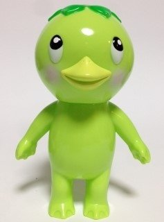 Kappa Kid (Green) かっぱキッド(緑) figure by Koji Harmon (Cometdebris), produced by Cometdebris. Front view.