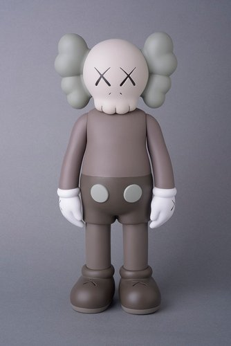 KAWS Companion Brown (Open Edition) figure by Kaws, produced by Medicom. Front view.