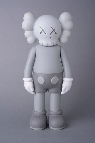 KAWS Companion Grey (Open Edition) figure by Kaws, produced by Medicom. Front view.