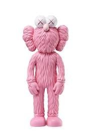 KAWS BFF Pink figure by Kaws, produced by Medicom Toy. Front view.