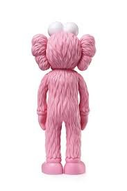 KAWS BFF Pink figure by Kaws, produced by Medicom Toy. Back view.