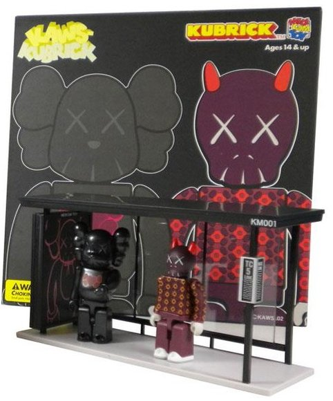 KAWS Bus Stop Kubrick - Set 1  figure by Kaws, produced by Medicom Toy. Packaging.