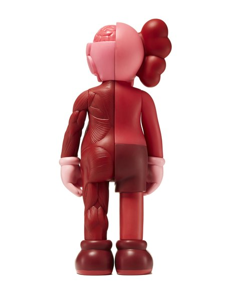KAWS Companion Blush (Flayed) (Open Edition) figure by Kaws, produced by Medicom. Back view.