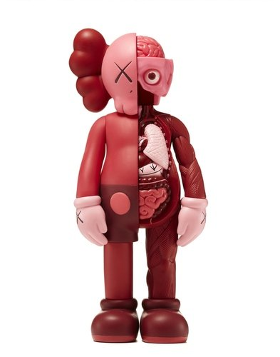 KAWS Companion Blush (Flayed) (Open Edition) figure by Kaws, produced by Medicom. Front view.