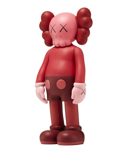KAWS Companion Blush (Open Edition) figure by Kaws, produced by Medicom. Side view.