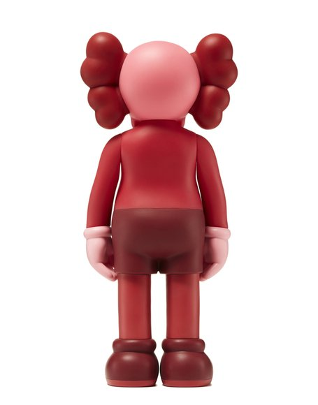 KAWS Companion Blush (Open Edition) figure by Kaws, produced by Medicom. Back view.