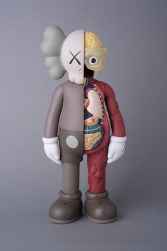 KAWS Companion Flayed Brown( Open Edition) figure by Kaws, produced by Medicom. Front view.