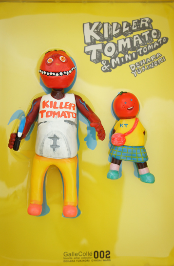 Killer Tomato figure by Yukinori Dehara . Front view.