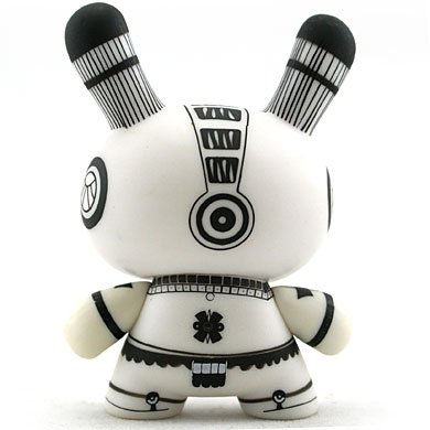 Petatero figure by Kraken, produced by Kidrobot. Back view.
