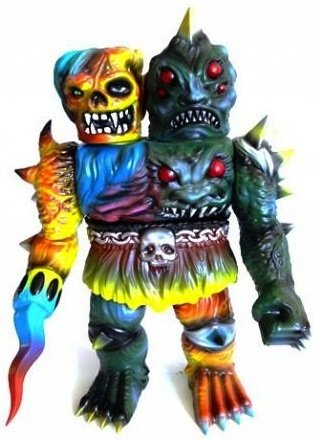 Krawluss figure by Skinner, produced by Mutant Vinyl Hardcore. Front view.