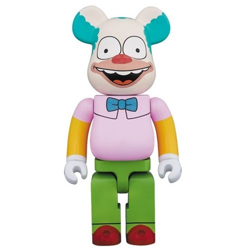 Krusty the clown BE@RBRICK 1000% figure by Matt Groening, produced by Medicom. Front view.