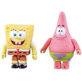 Kubrick Spongebob & Patrick 2Pcs Set figure by Nickelodeon, produced by Medicom. Front view.