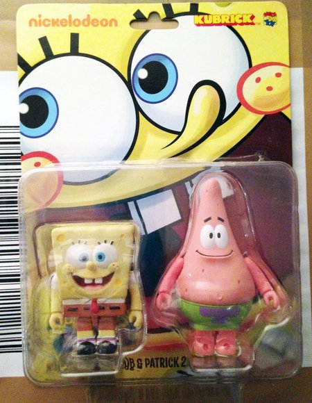 Kubrick Spongebob & Patrick 2Pcs Set figure by Nickelodeon, produced by Medicom. Packaging.