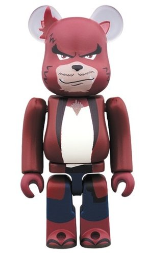 Kumatetsu BE@RBRICK 100% figure, produced by Medicom Toy. Front view.