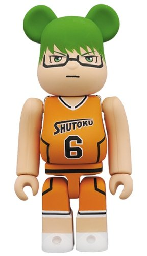 Kurokos Basketball - ‎Midorima Shintaro BE@RBRICK 100% figure, produced by Medicom Toy. Front view.